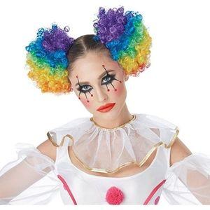 Blooming Hair Colored Clown Puffs